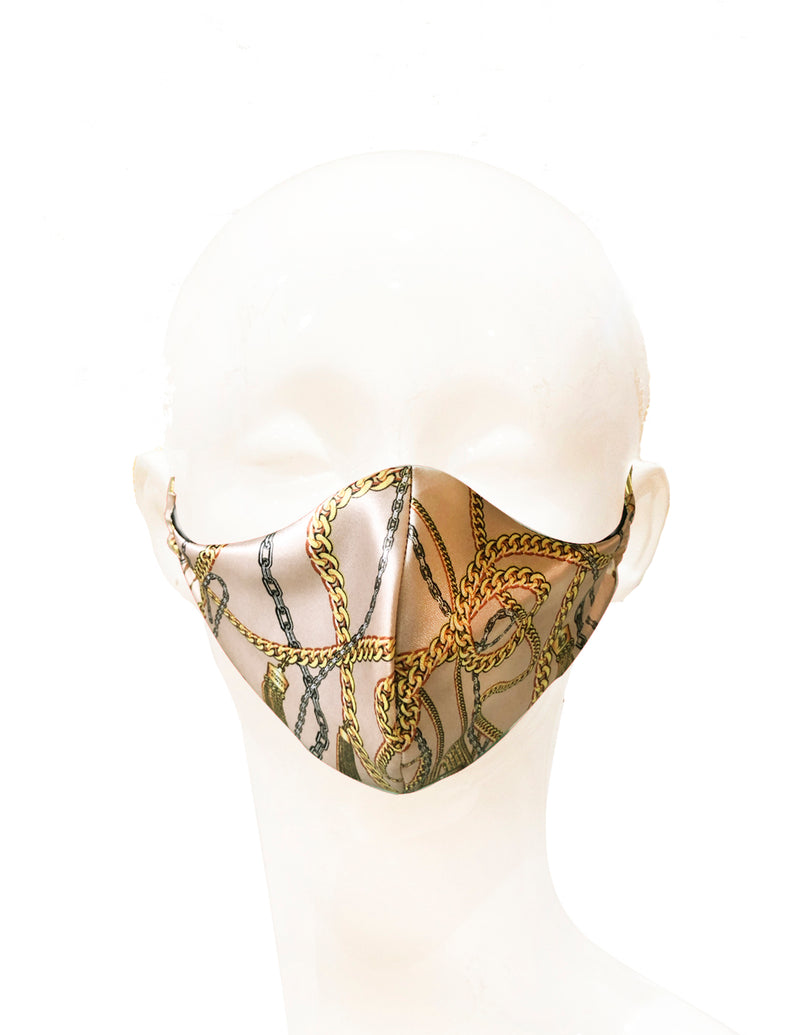 Laurel DeWitt Contour Mask  in LD Tan Chain Signature Print