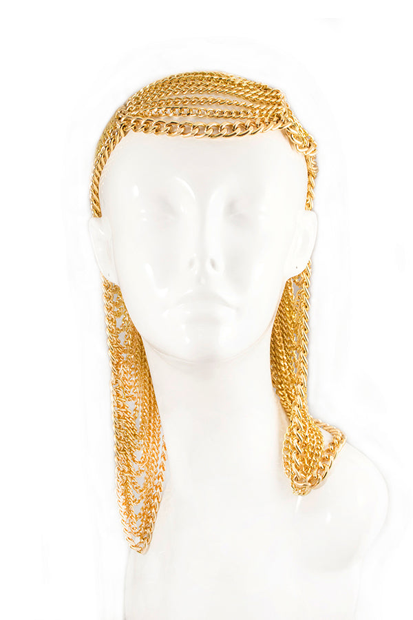 Draped Chain Hood Headdress