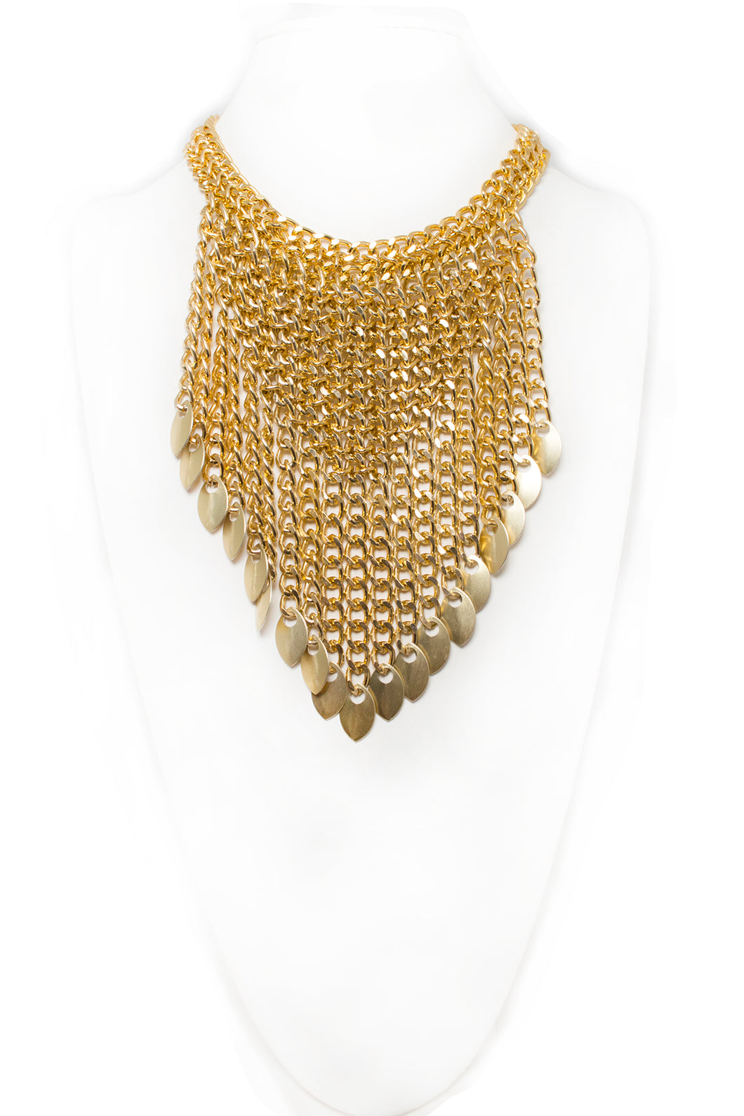 V-Fringe Necklace