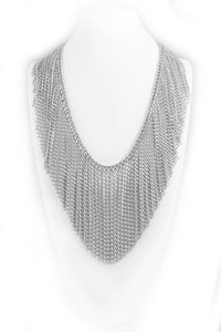 Infinity Chain Fringe Necklace