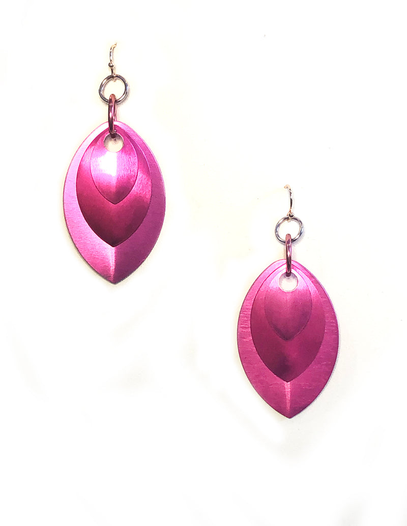 Pink Metal Drip Earrings