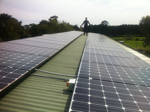 Our 10kW solar system provides more electricity that the winery uses every year