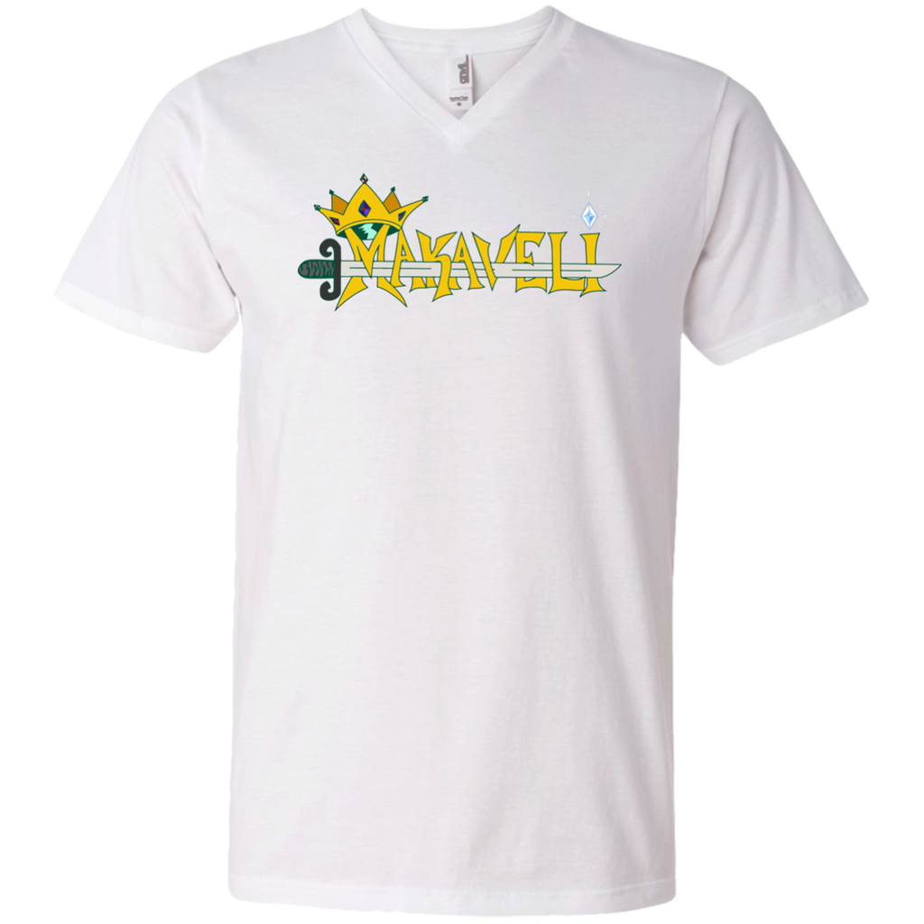 Makaveli Tattoo Printed V-Neck T-Shirt