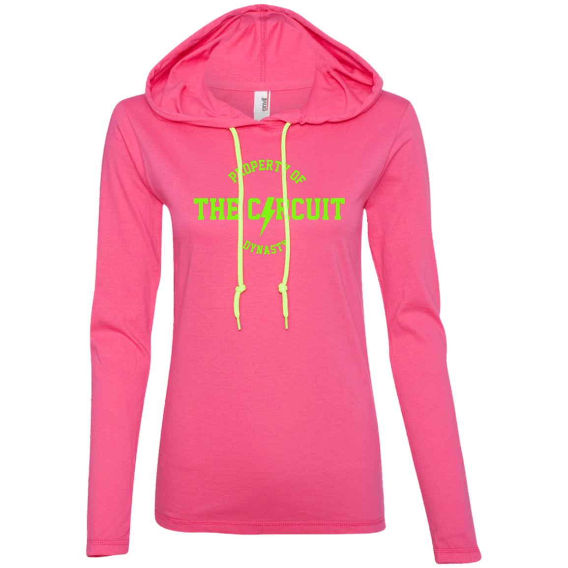 Property of the Circuit Women's Body Fit Hoodie - Neon print