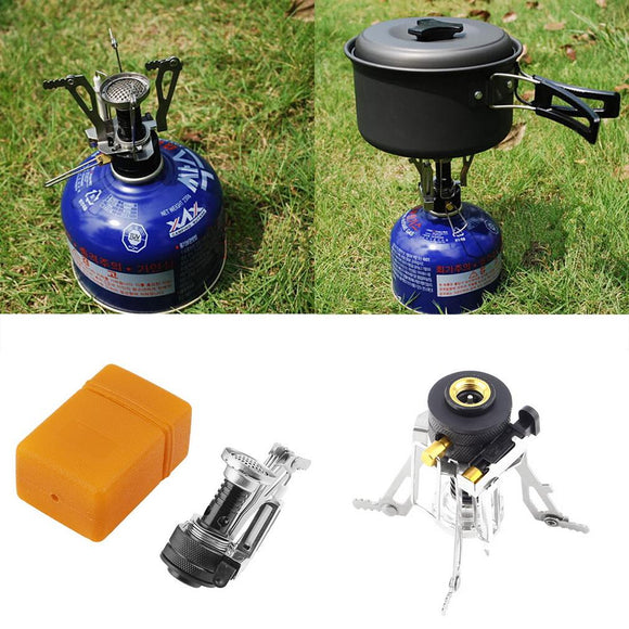 Folding Mini Camping Survival Cooking Furnace Stove Gas Outdoor free shipping - Save Money Buy Direct