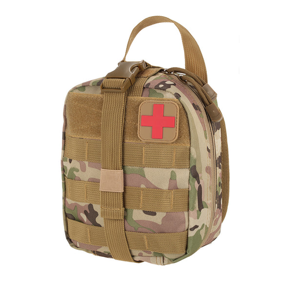 Outdoor Utility Tactical Pouch Medical First Aid Kit Patch Bag Molle Medical Cover Hunting Emergency Survival Package 2 colors