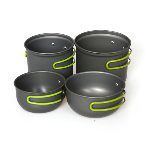 1 Set Cookware Outdoor Camping Hiking Backpacking Cooking Picnic Bowl Pot Pan#FC28 - Save Money Buy Direct
