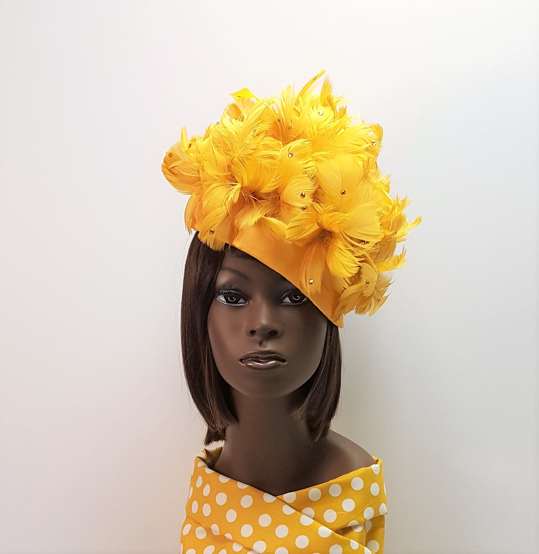 Golden Yellow Cocktail Head Piece