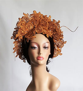 Antique Gold Lace Headpiece