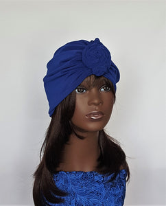 Women's Royal Blue Turban Wrap