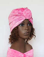 Pink Turban Head Wrap