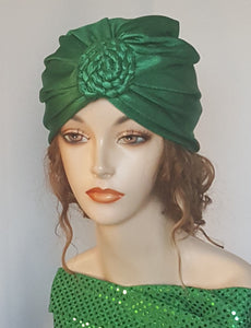 Green Turban Head Wrap
