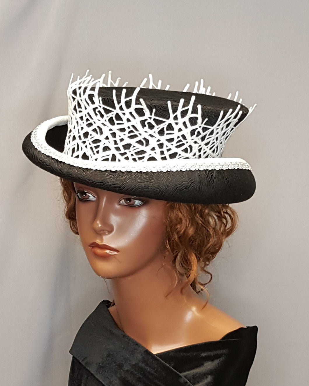 Black and White women's  Top Hat