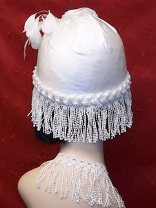Bridal Headpiece  Dupi Silk Cloche Crown Roaring 20's Inspired