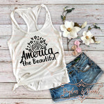 America the Beautiful SVG DXF PNG