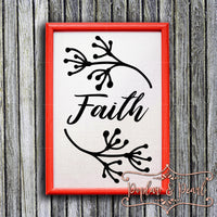 Faith SVG DXF PNG