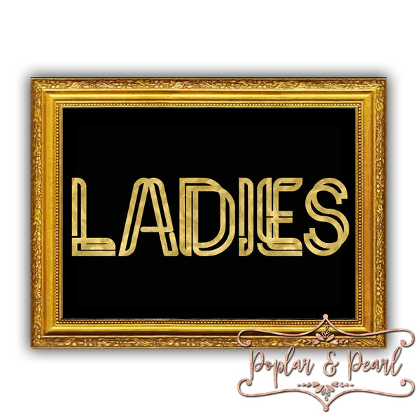 Ladies Prohibition Era Style Sign Cut File SVG DXF PNG