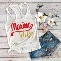 Marine Wife SVG DXF PNG