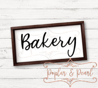 Bakery FarmHouse Style SVG DXF PNG