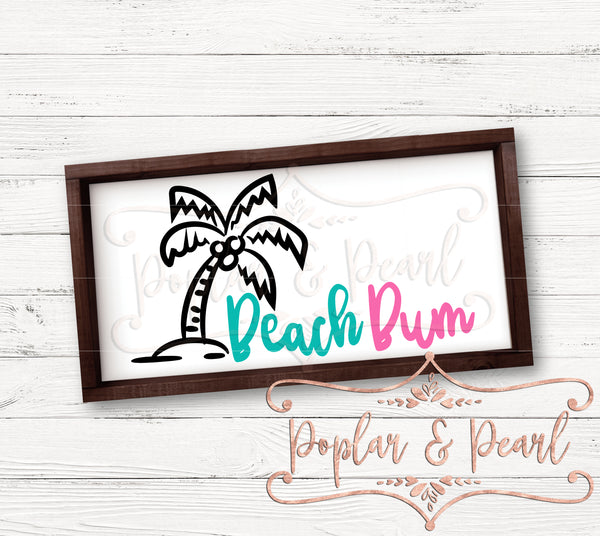 Beach Bum SVG DXF PNG