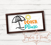 Beach Please SVG DXF PNG