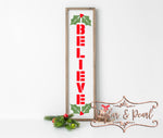 Believe Vertical Sign SVG DXF PNG