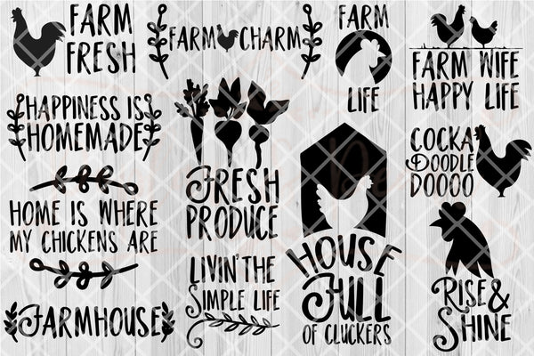 Farmhouse Bundle #1 SVG DXF PNG