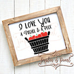 A Bushel and a Peck SVG DXF PNG