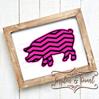 Chevron Pig (Layered) SVG DXF PNG