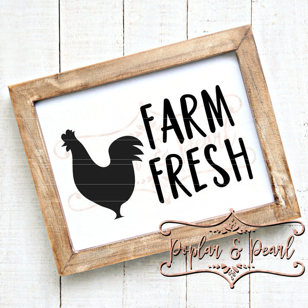 Farm Fresh Chicken SVG DXF PNG