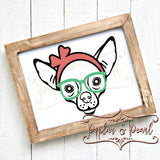 Chihuahua with Headband SVG DXF PNG
