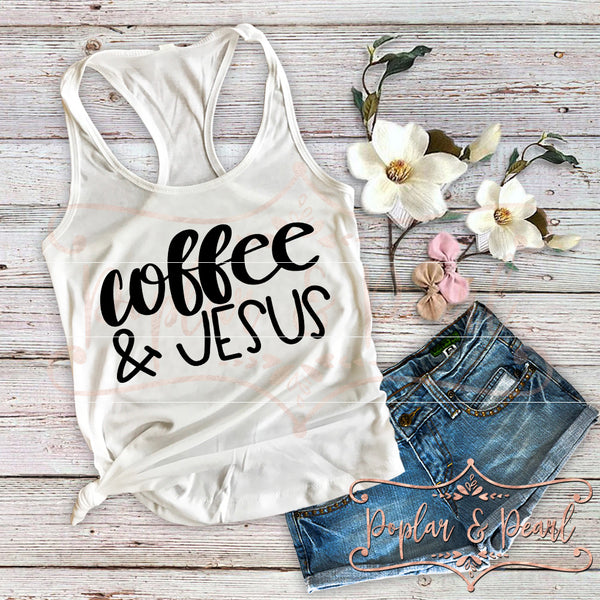 Coffee & Jesus SVG DXF PNG