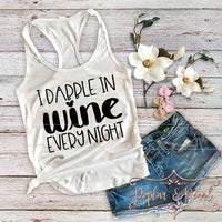 Dabble in Wine SVG DXF PNG