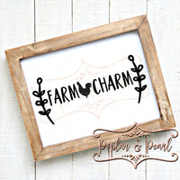 Farm Charm SVG DXF PNG