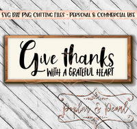Grateful Heart SVG DXF PNG