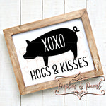 Hogs and Kisses SVG DXF PNG