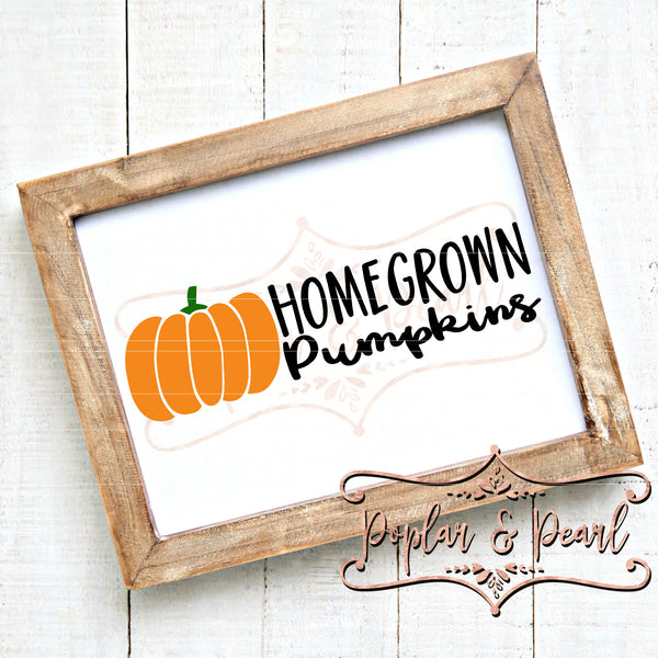 Homegrown Pumpkins SVG DXF PNG