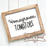 Homegrown Tomatoes SVG DXF PNG