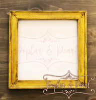Mustard Yellow Frame Reverse Canvas Mock Up PNG JPG