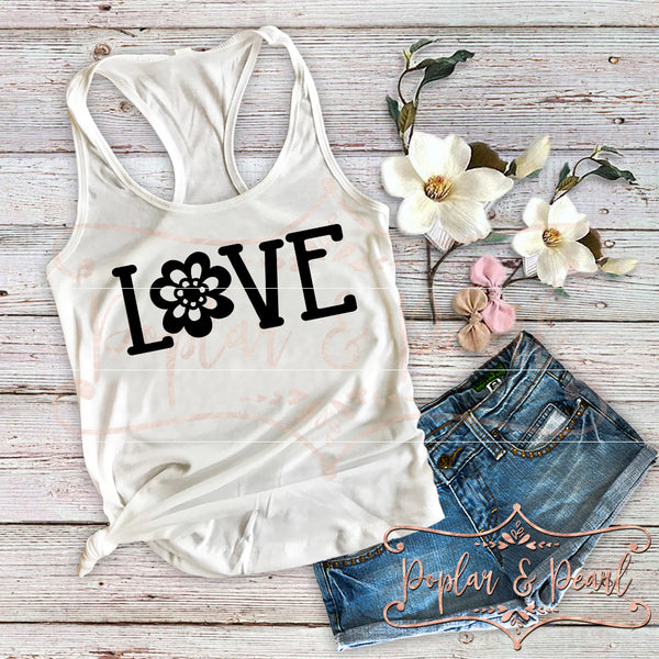 Love with Flower SVG DXF PNG