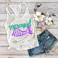 Mermaid SVG DXF PNG