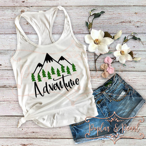 Adventure Mountains SVG DXF PNG