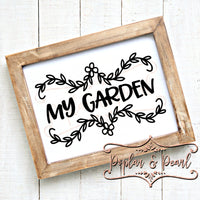 My Garden SVG DXF PNG