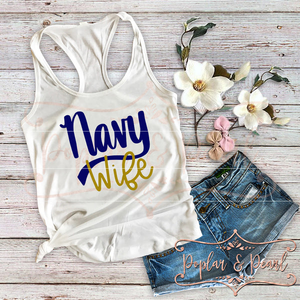 Navy Wife SVG DXF PNG