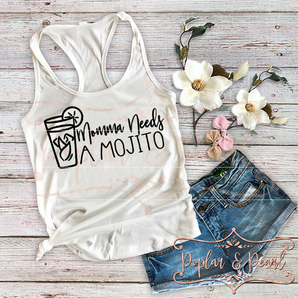 Momma Needs a Mojito SVG DXF PNG