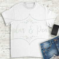 Plain White Shirt Flat Lay Mock Up Hi-Res JPG