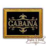 Cabana Prohibition Era Style Sign Cut File SVG DXF PNG
