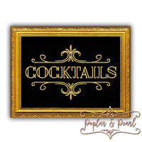 Cocktails Prohibition Era Style Sign Cut File SVG DXF PNG