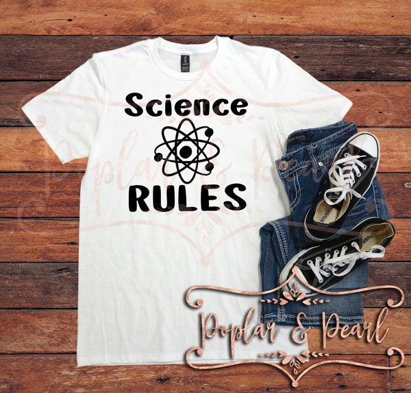 Science Rules SVG DXF PNG