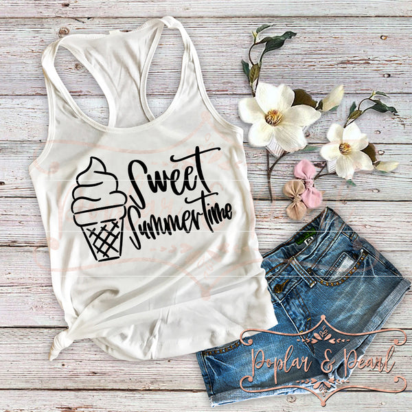 Sweet Summertime SVG DXF PNG